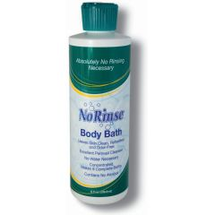 No-Rinse No Rinse Body Bath Solution with Odor Eliminator 8 Oz