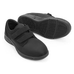 Oasis Casey Black Diabetic Shoe - Unisex