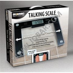 Jobar International Ideaworks Extra Wide LCD Talking Scale