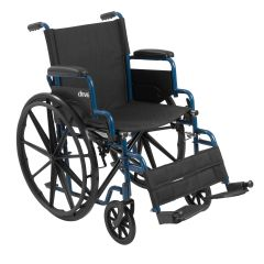 Drive Blue Streak Wheelchair with Flip Back Desk Arms