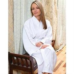 Lite Waffle Weave Kimono Robe One Size Fits Most -White