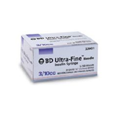 "Ultra-Fine 0.3 mL Insulin Syringe 30g x 1/2"" Ultra-Fine Needle"