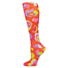 Red-Multi Hearts Fashion Line Compression Socks
