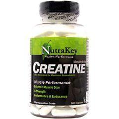Nutrakey Creatine Monohydrate 750 mg 100 Capsules