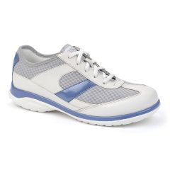 Oasis Women's Emma White/Blue Diabetic Shoe