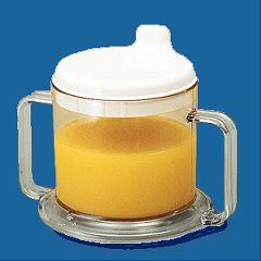 Transparent Mug with Drinking Spout