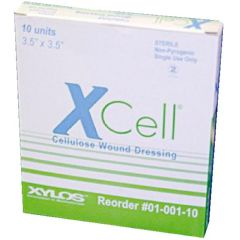 """XCell Antimicrobial Cellulose Dressings 3.5"""" x 3.5"""""""