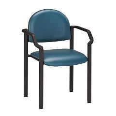 Clinton Industries Clinton Premium Side Chair W/Arms-Black Frame