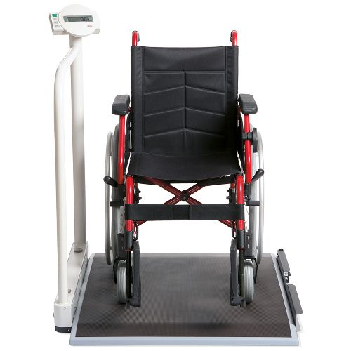 Seca Electronic Wheelchair Scale with Handrail & Transport Castors Model 741 0117