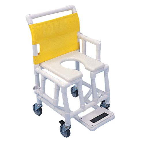 Healthline Shower Taxi Shower/Commode Chair - Soft Seat with Open Front