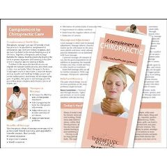 Jji Web Solutions Massage A Complement To Chiropractic Brochure 50Pk