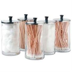 ScripHessco Glass Dispenser Jars Set Of 6 25Oz Each