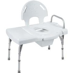 Invacare I-Class™ Heavy-Duty Transfer Bench with Commode Opening