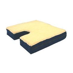 "Windsor Bariatric Coccyx Gel Seat Cushion with Fleece Top 18"" x 20"""