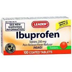 Cardinal Health Leader Ibuprofen Orange Tablets 200 mg 100 Count