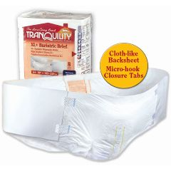 "Tranquility XL+ Bariatric Disposable Brief 64"" to 90"" Waist Size"