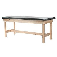 "Custom Craftworks Edge Sport Series Flat Wood Treatment Table with H-Brace 31""H"