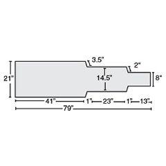 """AliMed Siemens Koordinat Angio Tablepad, 1.5"""" T-Foam"""