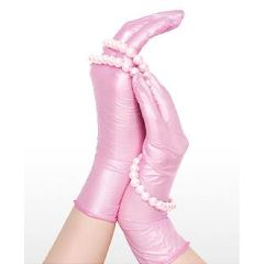 Generation Pink Pearl Aloe Nitrile Exam Gloves