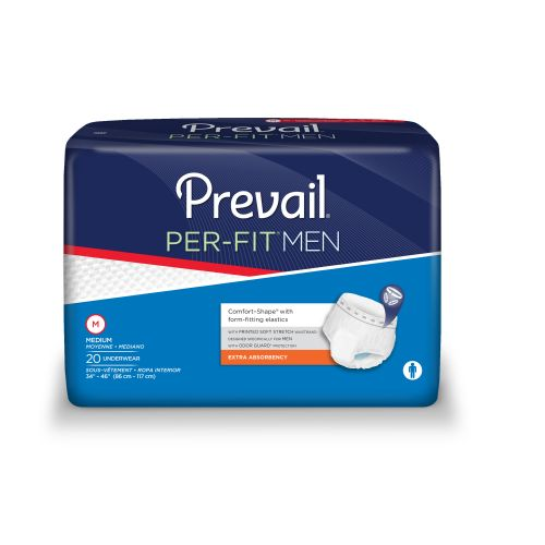 Prevail - First Quality PER-FIT Mens Protective Underwear - Moderate Absorbency
