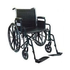 "Drive Silver Sport 2 - 18"" x 16"", Detachable Desk Arm, Swing-Away Footrests"