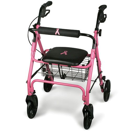 Guardian Breast Cancer Awareness Pink 4 Wheeled Rollator  Model 776 0125