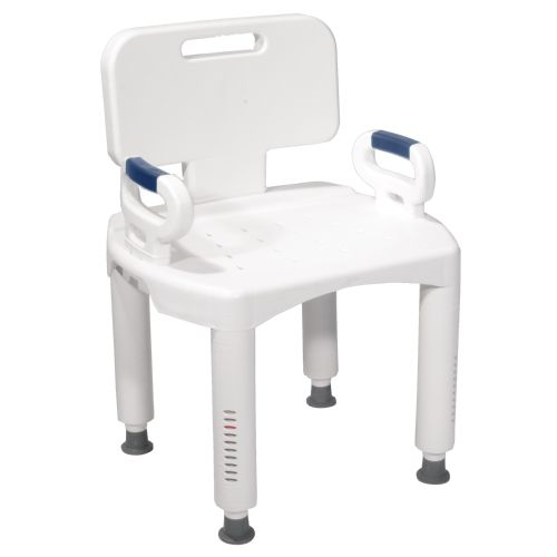 Drive Premium Series Bath Bench with Back and Arms Model 179 0193