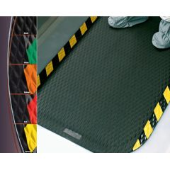 Hog Heaven Anti-Fatigue Matting Hog Heaven Anti-Fatigue Matting 4' x 6' Black w/ striped yellow border.