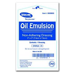Invacare Oil Emulsion Dressing - 3 x 3""