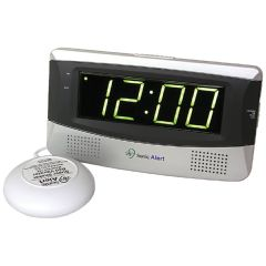 Sonic Alert Sonic Boom Alarm Clock (SB300ss) w/ Bed Shaker & Extra Large Display