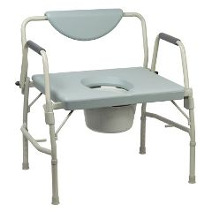 Mckesson by Drive McKesson Over-Sized Drop-Arm Commode with 12 QT Bucket
