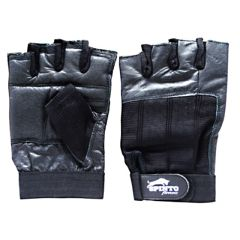 Spinto Men's Workout Gloves - Black (LG)