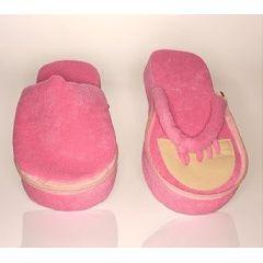 Deluxe Comfort Memory Foam Pedi Slippers - Pink Small