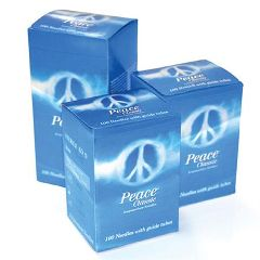 Medical Technology Products Peace Needles with Guide Tubes - 100/box