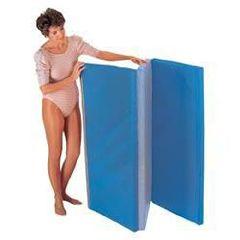 "Hausmann Folding Floor Mat 4'W X 8'L X 2""H Blue/Gray"