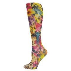 Leopard Flowers Fashion Line Compression Socks