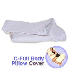 C-Full Body Pillow White Cotton Cover