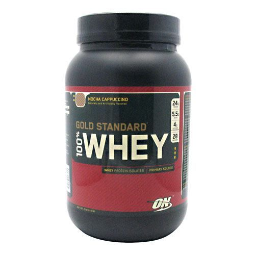 Gold Standard Optimum Nutrition Gold Standard 100% Whey - Mocha Cappuccino Model 171 585366 01