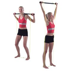 Cando Padded Exercise Bar With Tubing - Unweighted
