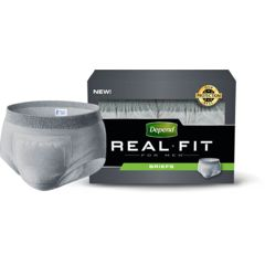 Depend Real Fit Briefs for Men Disposable Protective Underwear