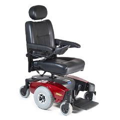 Invacare Pronto M51 Power Wheelchair - Semi-Recline 16x16 Red