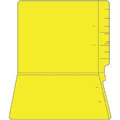 11PT Colored End Tab Folders, 100/Box