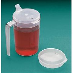 North Coast Medical Clear Cup With Two Lids