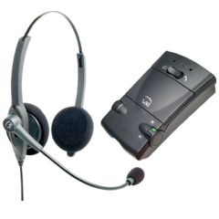 Harris Communications VXi Passport 21 Binaural Headset with Everon Multipurpose Amplifier
