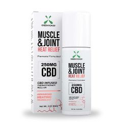 Muscle and Joint Heat Relief CBD Infused Roll-on,  3.0 oz