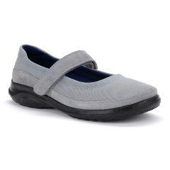 Oasis Footwear Oasis Women's Mary Jane Gray Diabetic Shoe
