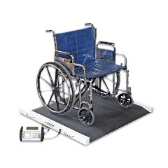 Detecto Bariatric / Wheelchair Scale - 1100 Lb. X .5 Lb. - 49 X 45 X 8 Inch Footprint