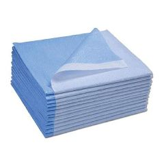 "ScripHessco Disposable Drape Sheets, Blue, 40""x90"" - 50/Case"