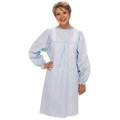 LadyLace Patient Night Gown - Pink Long Sleeve