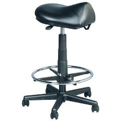 Kayline Enterprises, Inc. Premium Hydraulic Saddle Stool With Foot Ring